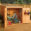 "Rowlinson 6' W x 2'8"" D Wood Storage Shed"