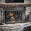 Home Loft Concept Laurentia Panel Iron Fireplace Screen