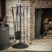 Home Loft Concept Carlotta 6 Piece Iron Fireplace Tool Set