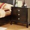 Hazelwood Home 3 Drawer Nightstand