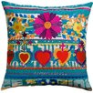 Koko Company Mexico Cotton Hearts Print Pillow