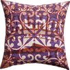 Koko Company Press Cotton Print Salmon and Tile Pillow