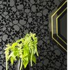 <strong>Barbara Hulanicki Flock Skulls Flocked Wallpaper</strong> by Graham & Brown
