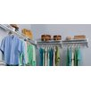 EZ Shelf from Tube Technology Expandable Closet Kit - 2 Closet Shelves & Rods and 2 End brackets