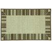 Bacova Guild Cotton Elegance Border Stripe Brown Rug