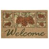 Bacova Guild Koko Natural Pinecone Welcome Doormat