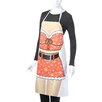 Attitude Aprons by L.A. Imprints Santa Girl Apron in Natural