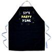 Attitude Aprons by L.A. Imprints It's Party Time Apron in Black