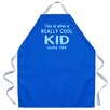 Attitude Aprons by L.A. Imprints Really Cool Kid Apron in Royal