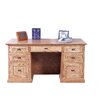 Forest Designs Executive Desk with Double Pedestal