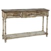 Rustic Distressed Chic Three Drawer Console Table