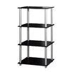 "Home Basics 70"" Four Storage Shelf Shelving Unit"