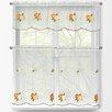 Window Elements Oranges 3 Piece Embroidered Kitchen Tier and Valance Set