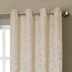 Window Elements Alpine Textured Woven Leaf Jacquard Grommet Curtain Panels (Set of 2)