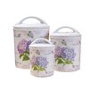 <strong>3 Piece Hydrangea Melamine Canister Set</strong> by Shall Housewares International