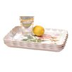 <strong>Rose Melamine Rectangular Ruffle Serving Tray (Set of 4)</strong> by Shall Housewares International