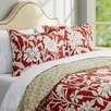 Three Posts Grove Duvet Cover Set in Red