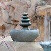 Garden Age Rock Cairn Quintuple Stone Fountain