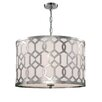 Libby Langdon for Crystorama Jennings 5 Light Drum Pendant