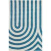 Thomas Paul Tufted Pile Blue Geometric Rug