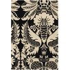 <strong>Tufted Pile Ebony/Cream Damask Rug</strong> by Thomas Paul