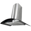 "AKDY 30"" 760CFM Stainless Steel Tempered Glass Wall Mount Range Hood with LED Slide Touch Control"