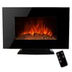 "AKDY 36"" Freestanding Tempered Glass Electric Fireplace with LED Backlight"