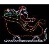Brite Ideas Santa in Sleigh LED Light