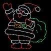 Brite Ideas Jolly Santa with Bag LED Light