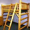 <strong>Moon Valley Rustic</strong> Twin Loft Bed with Built-In Ladder