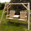 <strong>Moon Valley Rustic</strong> Tete-a-Tete Porch Swing with Stand