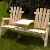 <strong>Moon Valley Rustic</strong> White Cedar Tete-a-Tete Seating Group