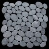 Pebble Tile Coin Natural Stone Mosaic in Grey