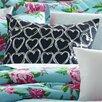 Betsey Johnson Boudoir Embroidered Heart Decorative Pillow