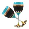 Golden Hill Studio Mosaic Chalk Wine Glass (Set of 2)