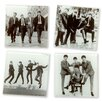 Vandor LLC The Beatles Glass Coaster Set