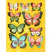 Wheatpaste Art Collective Butterflies by Katie Daisy Painting Print on Canvas in Yellow