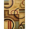 Well Woven Barclay Ivory Arcs and Shapes Area Rug