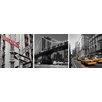 nexxt Design Shutter New York 3 Piece Photographic Print on Canvas Set