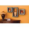nexxt Design Cubbi Framed 3 Piece Wall Shelf Set