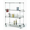 Nexel Solid Stem Caster Truck 4 Shelf Shelving Unit