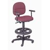 Nexel Height Adjustable T-Arms Dynamic Design Pneumatic Production Stool with Backrest