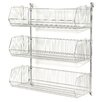 Nexel Wall Mount Basket 3 Shelf Shelving Unit