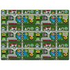 Educational Places To Go Kids Rug