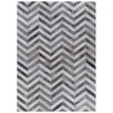 Rug Expressions Natural Hide White/Light Gray Area Rug