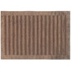 Rug Expressions Wide Stripe Chocolate Area Rug