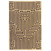 Rug Expressions Flat Weave Ivory/Dark Brown Area Rug
