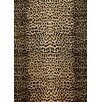 Rug Expressions Modern Wilderness Black/Light Gold Area Rug