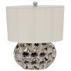 """EC World Imports Artisan Ceramic 26"""" Table Lamp with Drum Shade"""