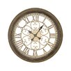EC World Imports Victorian Inspired Hampton Metal Wall Art Clock